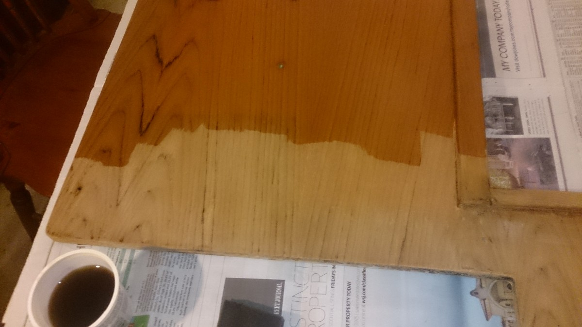 Stripping complete – first 50-50 coat applied